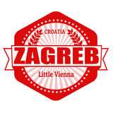 Zagreb capital of Croatia label or stamp