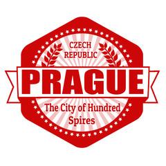 Prague capital of Czech Republic label or stamp