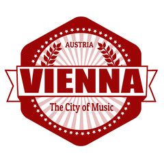 Vienna capital of Austria label or stamp