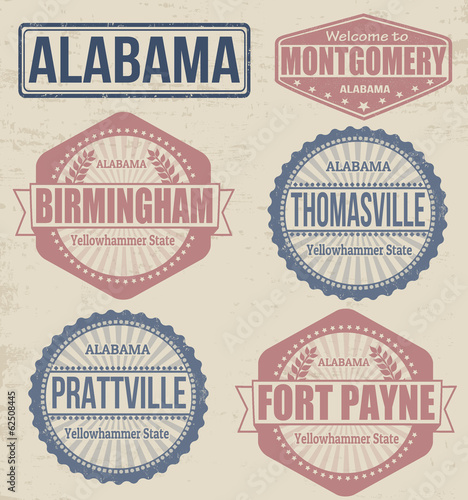 Alabama cities stamps