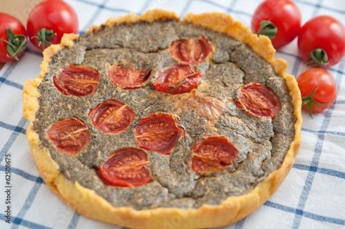 Tomaten Basilikum Quiche