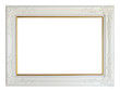 White louise photo frame, clipping path.