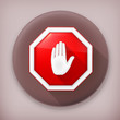 Stop sign, long shadow vector icon