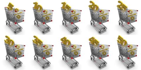 Carrelli della spesa con scontistiche
