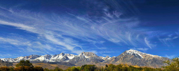 panoramic Sierra Nevada mountains mt whitney mammoth Bishop, Cal