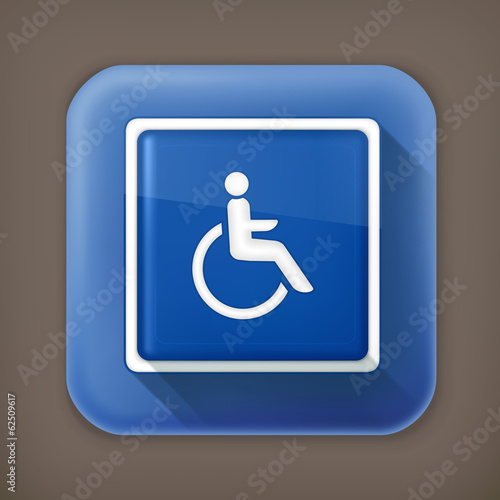 Symbol of Access long shadow vector icon