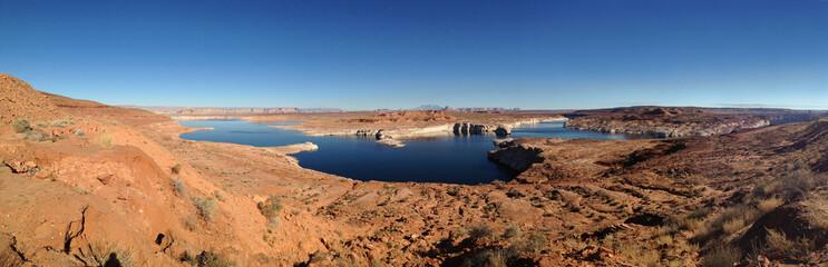 panoramic lake mead, page, arizona, usa