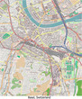 Basel Switzerland city hi res aerial view map
