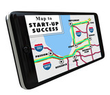 Road Map Start-Up Success Directions Navigation System GPS