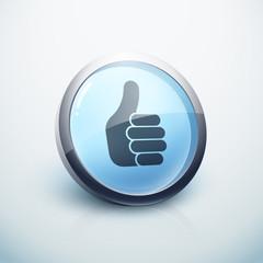 icône bouton internet pouce haut ok