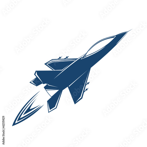 Stylized air fighter