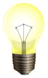 A yellow bulb