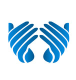 Hands charity logo vector