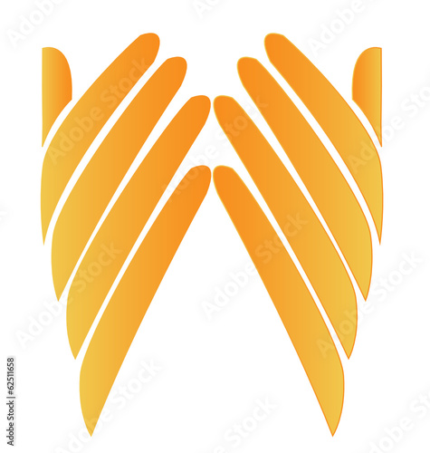 Hands hopeful logo vector