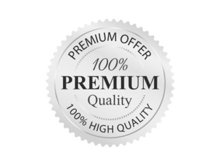 Silver Premium Quality Badge
