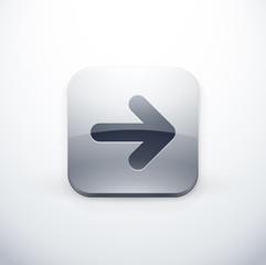icône bouton internet flèche