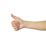 Woman's hand, thumbs up
