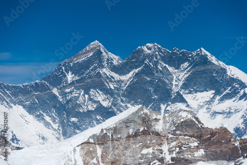 A view of Mt. Everest from Mera peak high camp, Nepal.