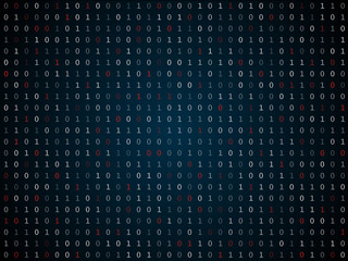 Binary computer code repeating vector background illustration