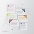Vector modern infographic design template