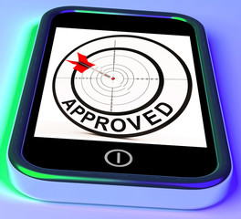 Approved Smartphone Shows Accepted Authorised Or Endorsed