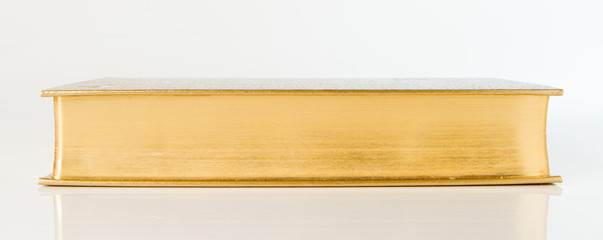 Side view book with leather bound
