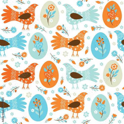 Materiał do szycia Easter seamless pattern