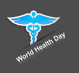 Beautiful World health day caduceus medical symbol creative colo