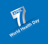 Beautiful text 7 April world health day creative background vect