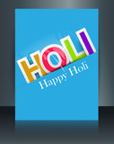 Vector celebration Holi colorful stylish text template festival
