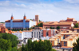 Top view of Teruel in summer day
