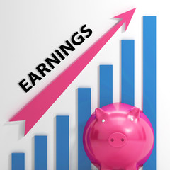 Earnings Graph Shows Company Sales And Income