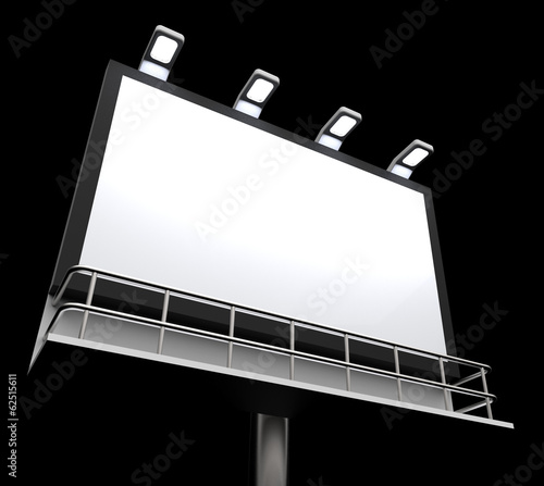 Blank Billboard Copyspace Shows Advertising Space