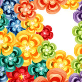 Gift floral design background.