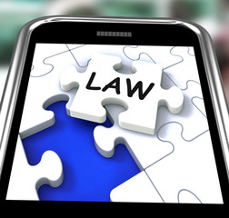 Law Smartphone Shows Legal Information And Legislation On Intern