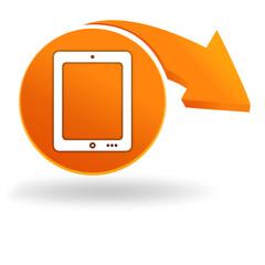 tablette sur bouton orange