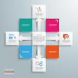 Square Design Cross Arrows