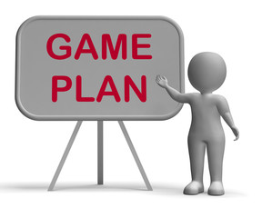 Game Plan Whiteboard Means Scheme Approach And Planning