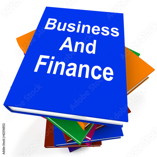 Business And Finance Book Stack Shows Businesses Finances