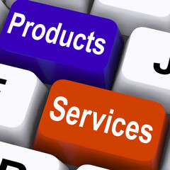 Products Services Keys Show Company Goods And Assistance