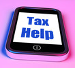 Tax Help On Phone Shows Taxation Advice Online