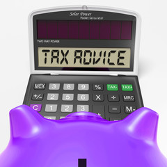 Tax Advice Calculator Shows Assistance With Taxes