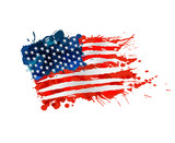 US flag made of colorful splashes - 62517622