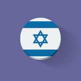 Round icon with flag of Israel