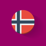 Round icon with flag of Norway