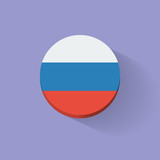 Round icon with flag of Russia