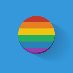 Round icon with rainbow flag