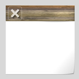 vector banner with wood texture and ban sign