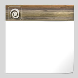 vector banner with wood texture and spiral