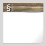 vector banner with wood texture and paragraph mark